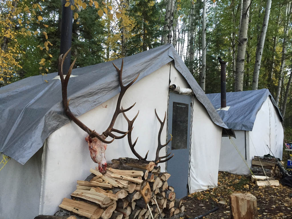 Alberta Elk Hunting camp